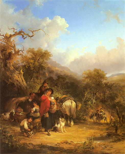 A Rest by the Roadside - William Shayer