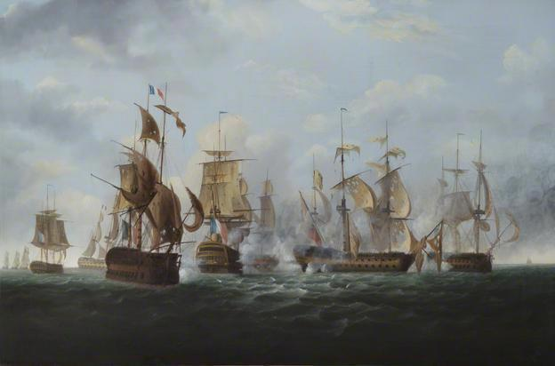 HMS Alexander' Commanded by Captain Rodney Bligh, Shortly before Striking Her Colours to the French Squadron, 6 November 1794, 1819 - William Shayer