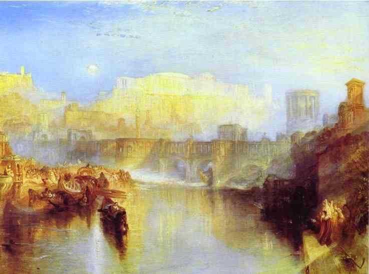 Ancient Rome Agrippina Landing with the Ashes of Germanicus, 1839 - Joseph Mallord William Turner