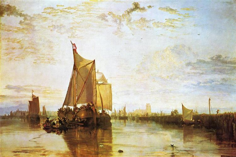Dort, the Dort Packet Boat from Rotterdam Bacalmed, c.1818 - J.M.W. Turner