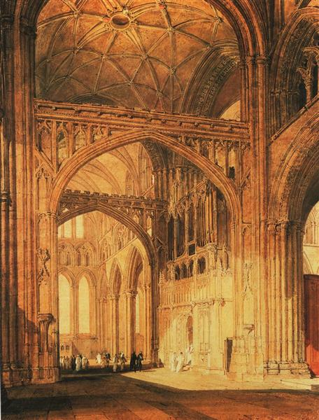 Interior of Salisbury Cathedral, c.1802 - c.1805 - J.M.W. Turner