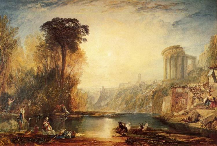 Landscape Composition of Tivoli, 1817 - J.M.W. Turner