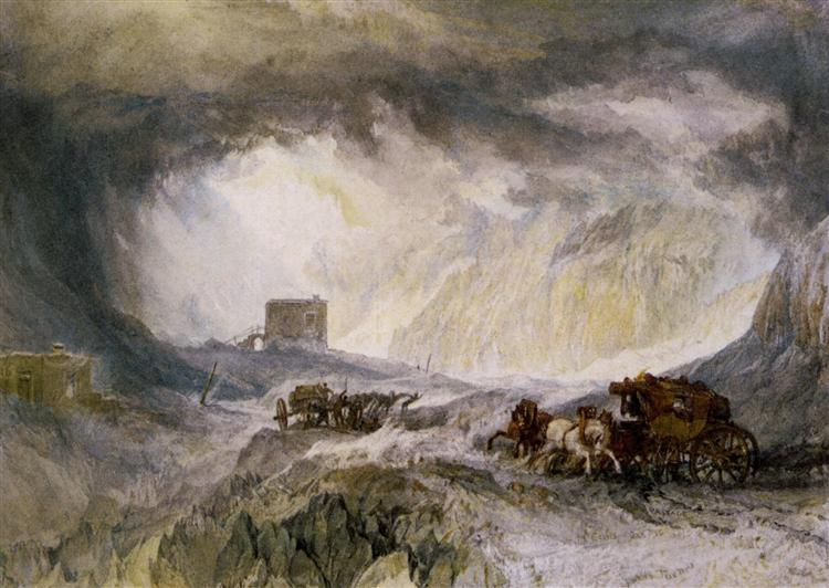 Passage of Mount Cenis - Уильям Тёрнер