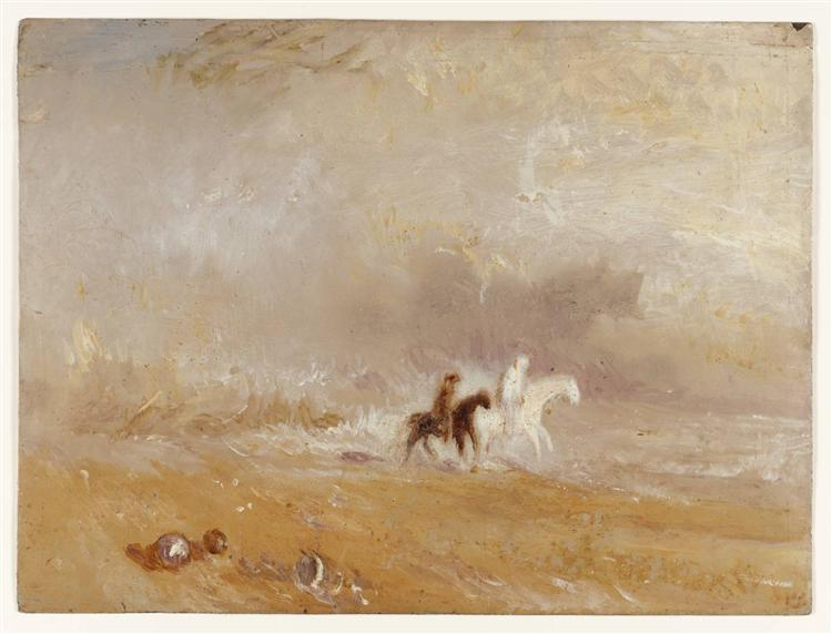 Riders on a Beach, 1835 - Joseph Mallord William Turner