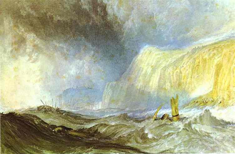 Shipwreck off Hastings, c.1825 - J.M.W. Turner