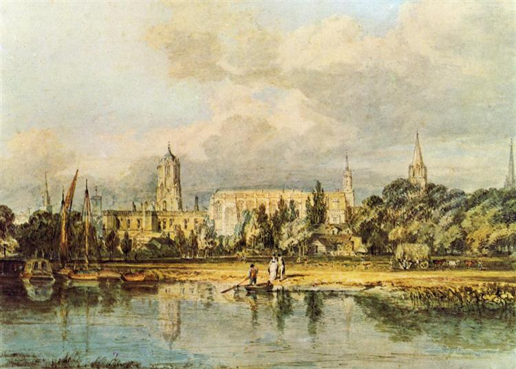 South View of Christ Church, from the Meadows, 1798 - 1799 - J.M.W. Turner