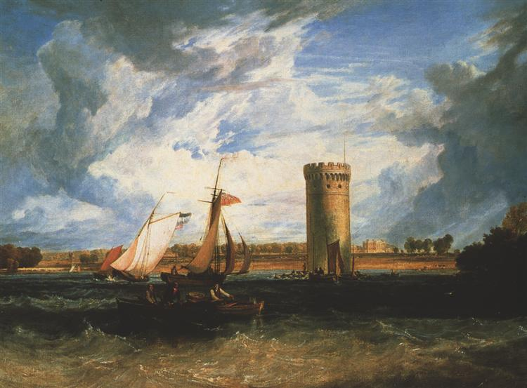 Tabley, the Seat of Sir J.F. Leicester Bt.: Windy Day - J.M.W. Turner