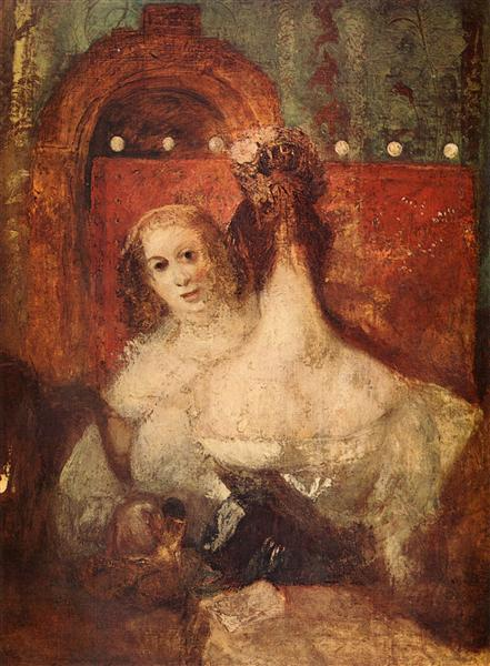 Twowomenandaletter, c.1835 - J.M.W. Turner