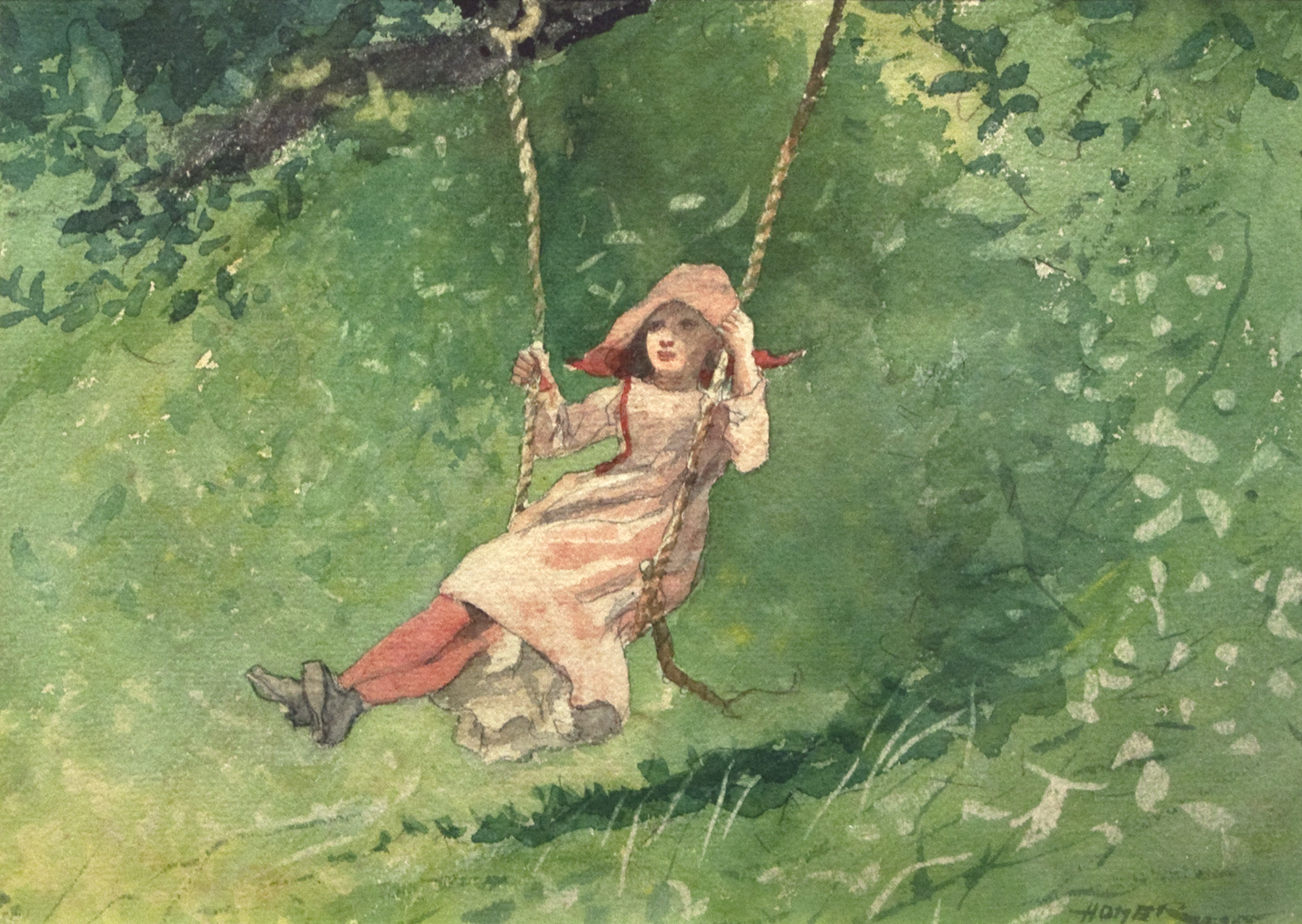 Girl On A Swing 1897 Winslow Homer Wikiart Org