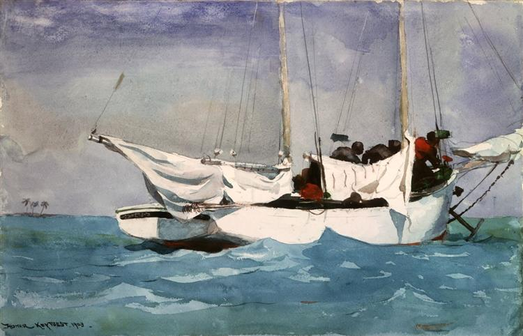 Key West, Hauling Anchor, 1903 - Winslow Homer