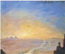 Distant View of the Pyramids - Winston Churchill
