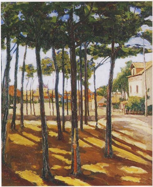 Mimizan Plage, Landes, 1920 - Winston Churchill