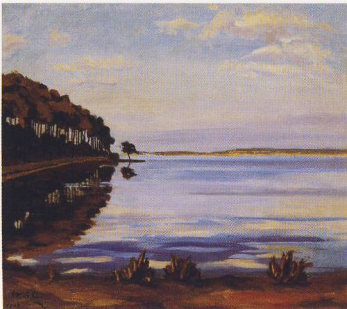 View at Mimizan, 1920 - Winston Churchill