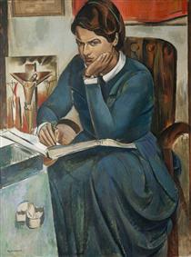 Lady Naomi Mitchison (1897–1999), Author - Wyndham Lewis