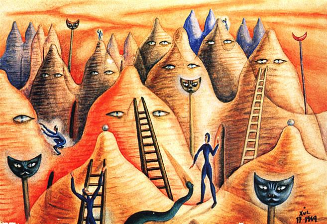 País Rojo Teti, 1949 - Xul Solar