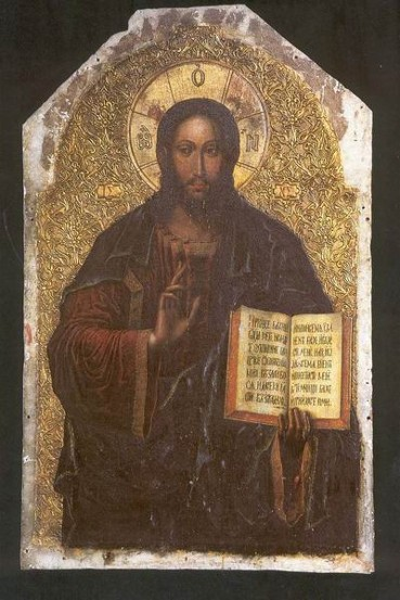 Icon of the Savior from the Maniava Hermitage iconostasis1698, 1698 - 1705 - Yov Kondzelevych