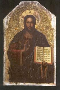 Icon of the Savior from the Maniava Hermitage iconostasis1698 - Yov Kondzelevych