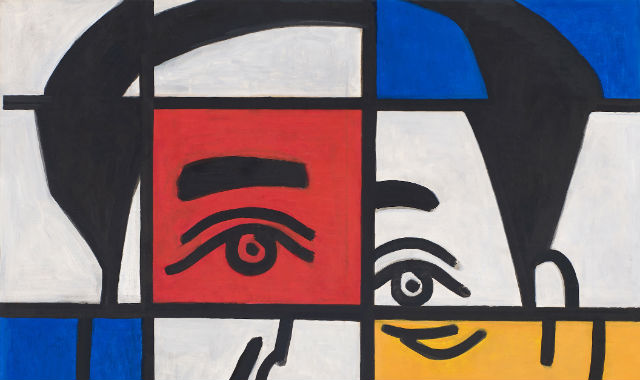 A Pocket Western Art History About Mao – Foreign Mao (Mondrian), 1999 - Yu Youhan