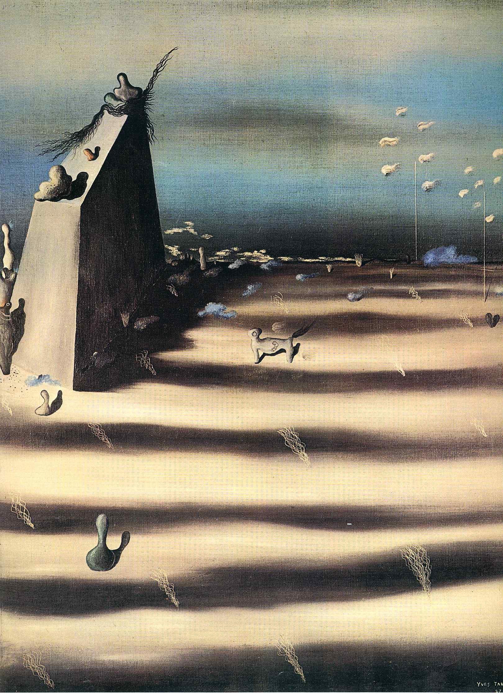 Большая картина с пейзажем - Ив Танги - WikiArt.