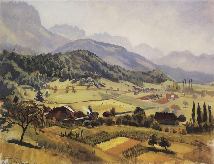 Alps.Annecy, 1933 - Zinaida Serebriakova