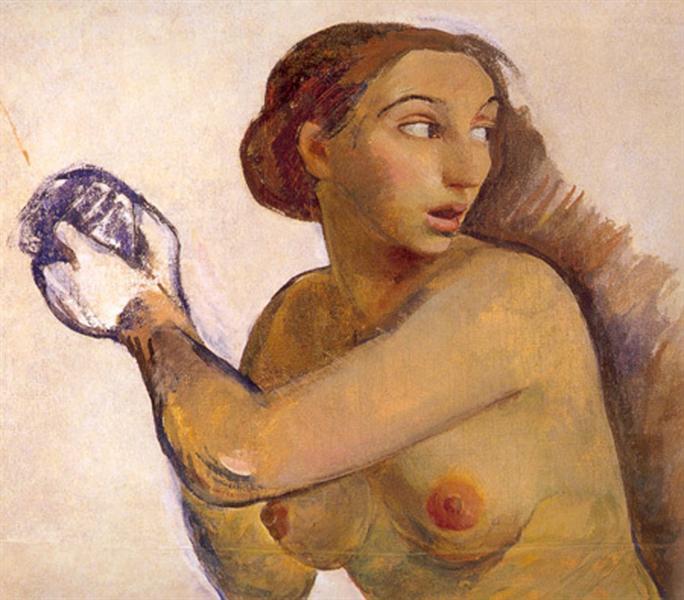 Nude.Sketch, 1916 - 1917 - Zinaïda Serebriakova