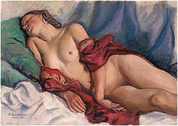 http://uploads8.wikipaintings.org/images/zinaida-serebriakova/sleeping-nude-with-a-red-shawl-1930.jpg